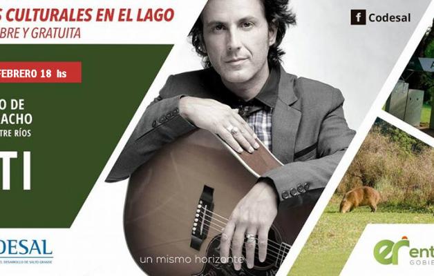 """Coti, el músico y compositor actuará en """"Atardeceres en el Lago"""""""