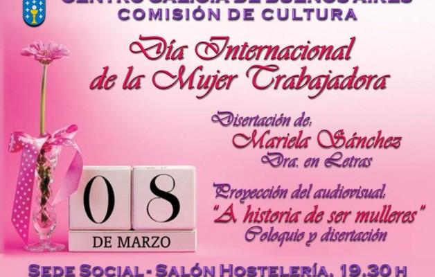 El Centro Galicia celebrará el Día Internacional de la Mujer