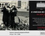 El amor porteño de Vinícius de Moraes, se exhibirá en la Embajada de Brasil