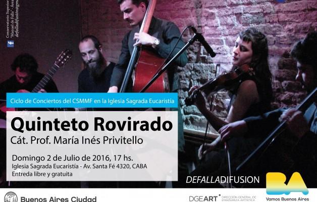 El Quinteto Rovirado actuará en la Iglesia Sagrada Eucaristía