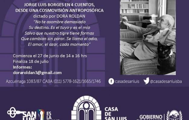 """En Casa de San Luis se dictará el taller """"Jorge Luis Borges en Cuatro Cuentos"""""""