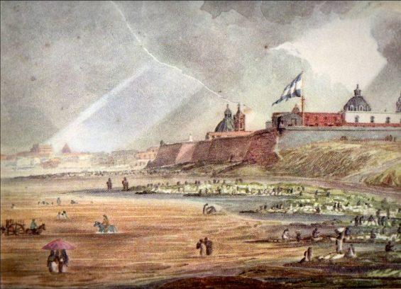 Fuerte de Bs. As. 1817 autor E. Vidal