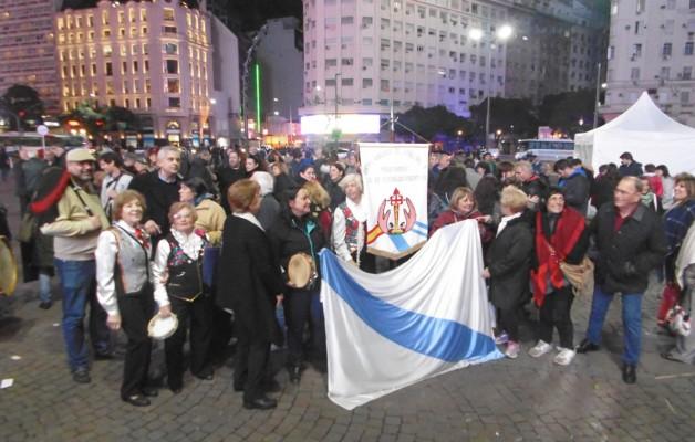 Obeliscazo gallego: la comunidad se reunió en esta primera edición para celebrar el Día de Galicia