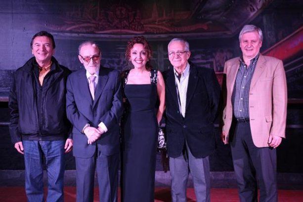 Don José María Vila Alén,Francisco Lores, Lorena Lores, Horacio Saltarelli y Emilio Raposo Varela