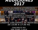 La Orquesta de Cámara de la Federación, abrió una nueva convocatoria de audiciones