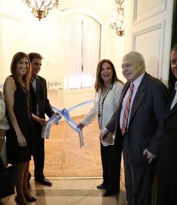Inauguración del Museo de la Legislatura: Lic. Marisa Bergman, Cristian Ritondo, Carmen Polledo y Carlos Serafín Pérez