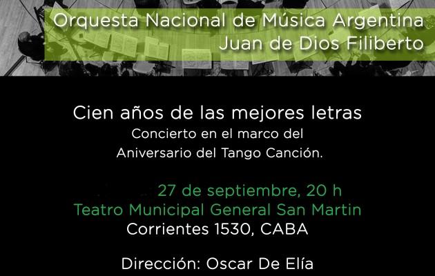 La Orquesta Nacional de Música Argentina, en el Teatro Municipal Gral. San Martín