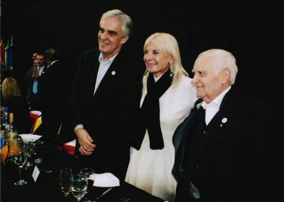 Javier Sandomingo Núñez, Embajador de España, Teresa Castaldo, Embajadora de Italia y Benito Blanco Álvarez