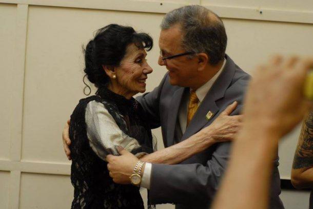 Haydée Battikha Haddad y David Cesar, Pte de la Sociedad Sirio Libanesa de Cordoba