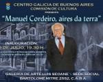 """""""Manuel Cordeiro, aires da terra"""" se inaugurará en el Centro Galicia de Buenos Aires"""