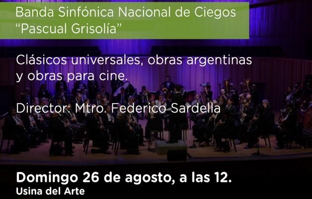La Banda Sinfónica Nacional de Ciegos se presentará en la Usina del Arte