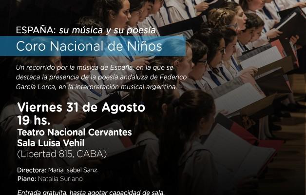 El Coro Nacional de Niños interpretará: ESPAÑA: su música y poesía