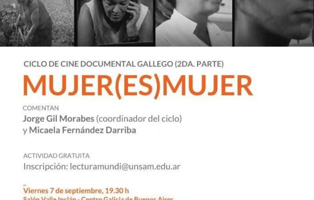 """""""Mujer(es)Mujer"""", se proyectará en el Centro Galicia de Buenos Aires"""