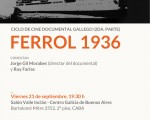 """«Ferrol 1936"""" (2011), se proyectará en el Centro Galicia"""
