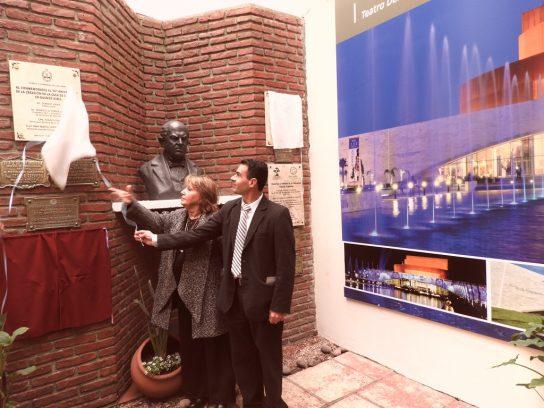 Ana María López y CPN, Juan Flores descubren placa