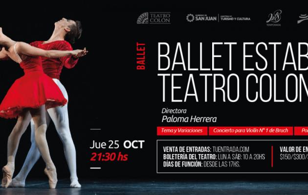 El Ballet Estable del Teatro Colón se presentará en San Juan