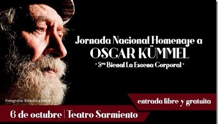 El homenaje a Oscar Kümmel se realizará en el Teatro Sarmiento de la Ciudad de San Juan