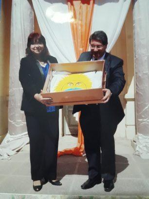 Mirtha Alida Silva y Ministro de Educación de San Juan, Lic. Felipe de los Ríos