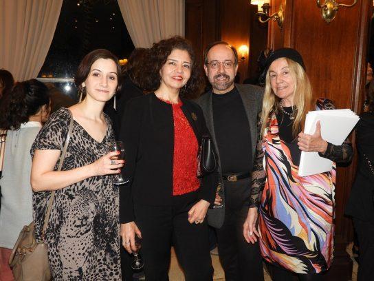 RRPP de la Embajada de Rumania Andrea Vieru - Embajadora de México S.E. Sra Abel Gómez Oliver y esposo y Arq Adriana Piastrellini