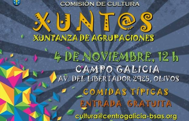 La Comisión de Cultura del Centro Galicia de Buenos Aires, organiza Xuntanza «Xunt@s»