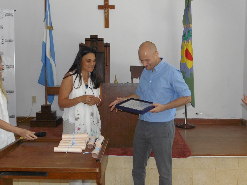 María Pía Resta Fresco Monasterio de Aldatz e Intendente Germán Lago