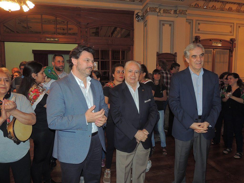 Don Antonio Rodríguez Miranda, Don Benito López Carballedo y Don Francisco Javier Sandomingo Núñez, Embajador de España en la Argentina