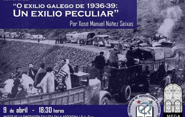 """Xosé Manuel Núñez Seixas brindará la conferencia """"O exilio Galego de 1936-39"""""""