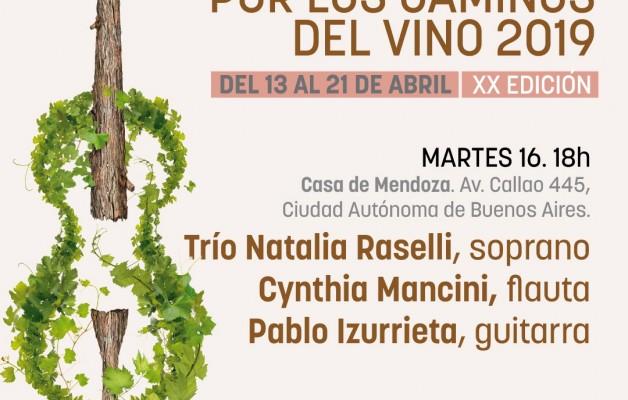 Por los caminos del vino 2019, en la Casa de Mendoza
