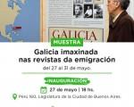 """""""Galicia imaxinada nas revistas da emigración"""" se expondrá en el Palacio de la Legislatura"""