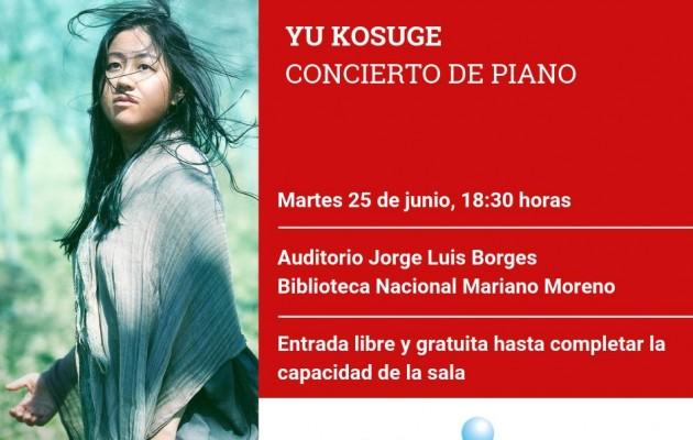 Yu Kosuge, la destacada pianista japonesa, actuará en la Biblioteca Nacional