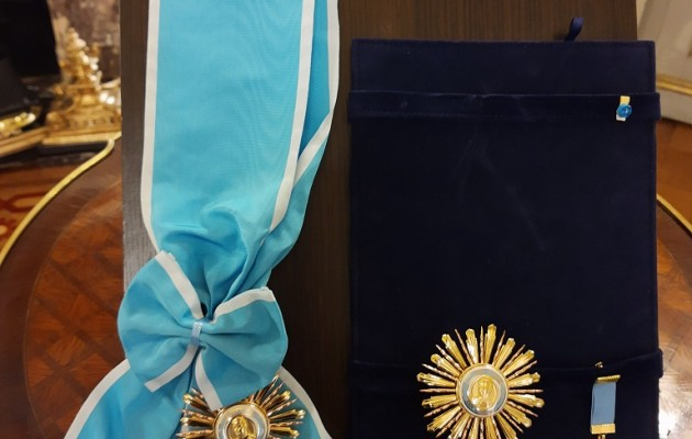 El Embajador Del Japón en la Argentina, Noriteru Fukushima, recibió La Orden General San Martín en el grado de Gran Cruz