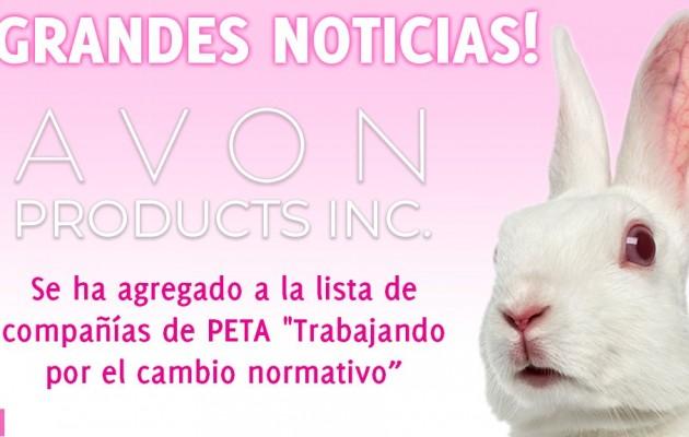 PETA y compromiso de Avon  para erradicar el testeo en animales