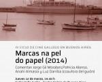 """""""Marcas na pel do papel"""", se proyectará en el Centro Galicia de Bs. As."""