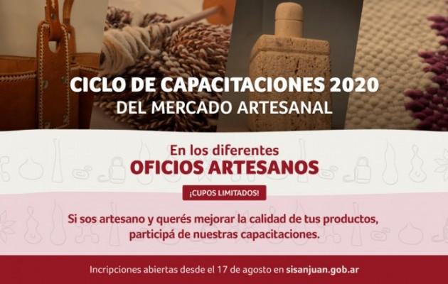 El Mercado Artesanal de San Juan abrió la inscripción para las capacitaciones gratuitas