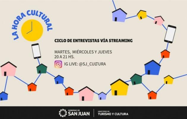 La Hora Cultural, hacedores culturales sanjuaninos cuentan sus experiencias online