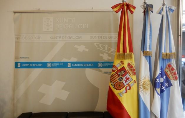 Antonio Rodríguez Miranda y Alejandro López Dobarro se  reunieron con representantes de entidades gallegas de la Argentina