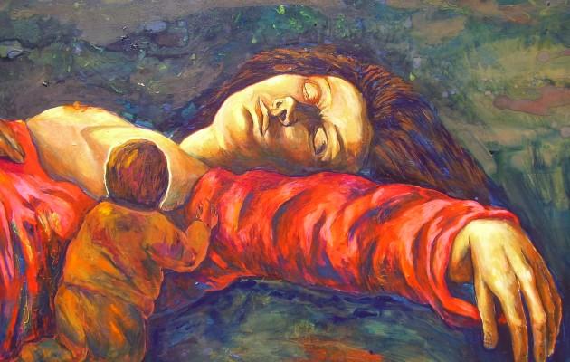 La Difunta Correa, el mito plasmado en el óleo del artista Carlos Gómez Centurión