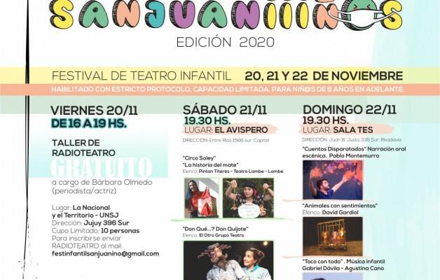 """El Festival de Teatro infantil """"SANJUANIIIÑOS"""", propone espacios creativos y artísticos"""